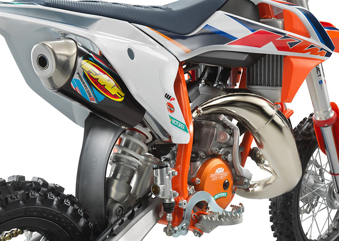 KTM 50 SX Factoy Edt 2021 detail exhaust