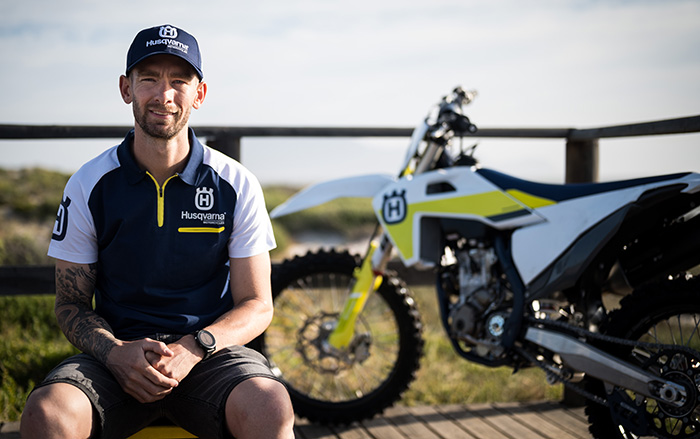 David Goosen joins the Husqvarna family. 1